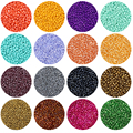 Glass Seed Beads Bulk,2/3/4mm Craft Small Pony Jewelry Beads for DIY Craft Project Bracelet Necklace Jewelry Making