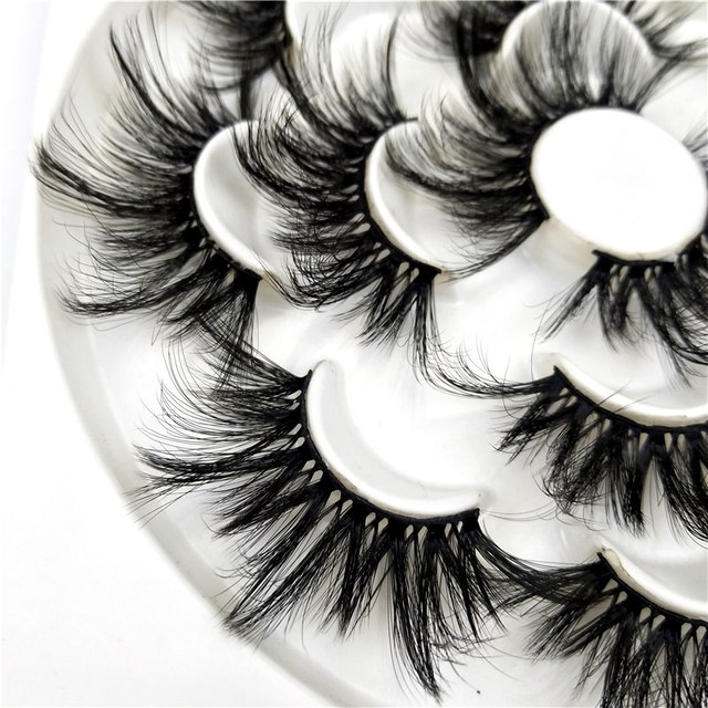 7 pairs 25 mm 3d mink lashes fluffy natural long false eyelashes,5 pairs Cruelty Free 22 mm 3d mink eyelashes Wholesale 3