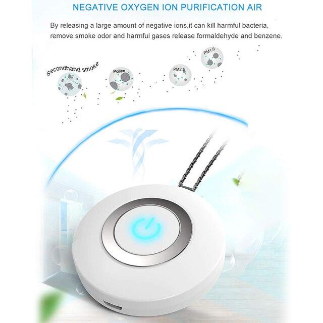 XMX-USB przenośny poręczny oczyszczacz powietrza, osobisty Mini naszyjnik powietrza odświeżacz powietrza jonów ujemnych-brak promieniowania niski poziom hałasu dla dorosłych