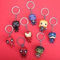 Hasbro Marvel Avengers Keychain Iron Man Thor Hulk Captain America Auto Kinder Kawaii Nette Spielzeug Tasche Anhänger Schlüsselring Freunde Geschenk