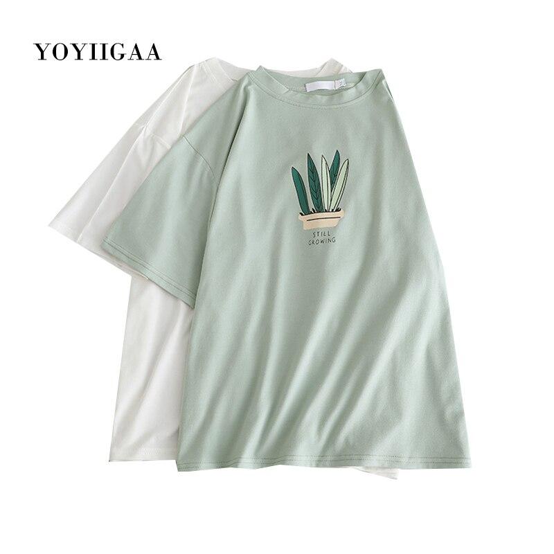Summer T Shirt Harajuku Women Tee Tops O-Neck Short Sleeve Female Tshirts Casual Loose Women's T-shirt Basic Ladies Tshirt Tops
