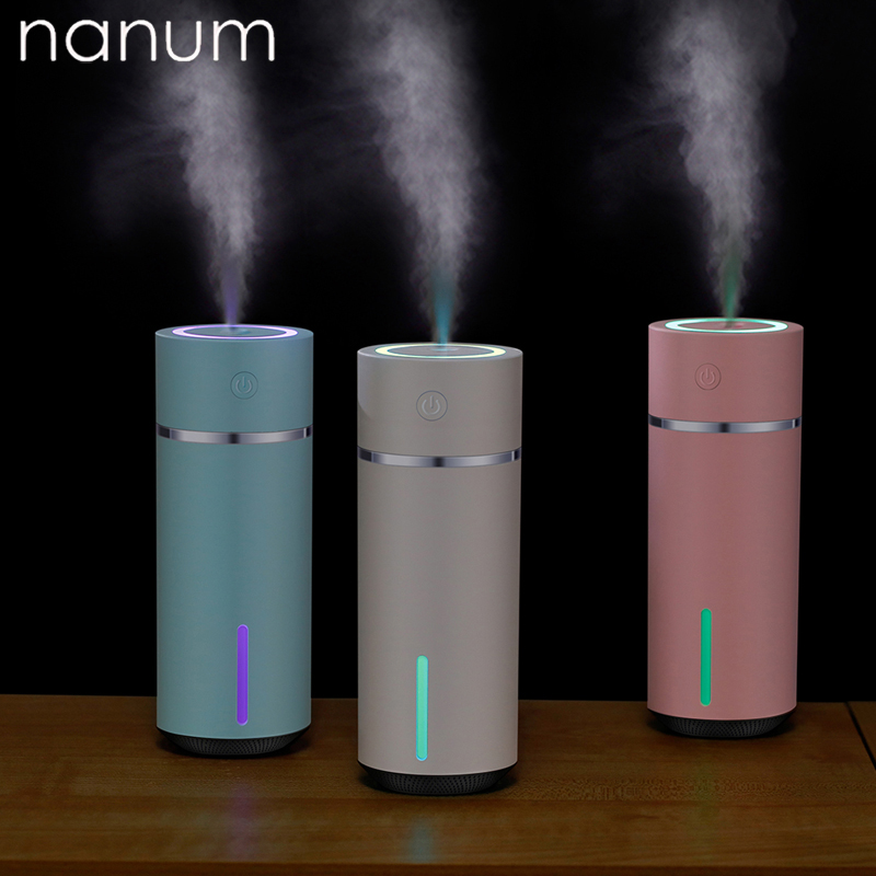 New Car Essential Oil Diffuser Mini Ultrasonic Color Cup Humidifier LED Night Light USB Aromatherapy Fogger Car Air Freshener