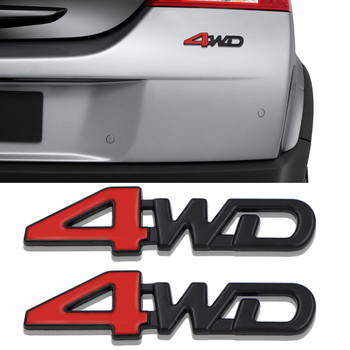 цена на Auto Car Tail Rear Side 4WD Metal Sticker 3D Chrome Badge Decal Styling AWD Stickers For Mitsubishi ASX Outlander Pajero Lada