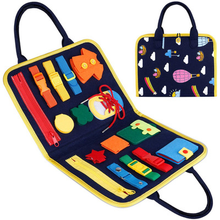 Montessori busy board Essential Educational Sensory Board For Toddlers Ntelligence Development training buckle kids toy
