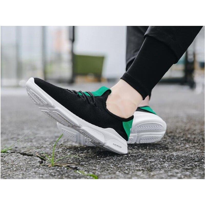 2019 Zomer Nieuwe Mannen Schoenen Lac up Mannen Casual Schoenen Lichtgewicht Comfortabele Ademend Paar Wandelen Sneakers Feminino Zapatos - 2