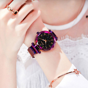 Image 3 - 2019 Ladies Wrist Watch Starry Sky Magnetic Women Watch Luminous Luxury Waterproof Female Watch For relogio feminino Reloj Mujer