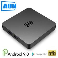 Aun box 1 android 9.0 caixa de tv, 2 gb ram + 16g rom. 4 k ultra hd decodificação, wifi hdmi2.0 google player conjunto caixa superior inteligente