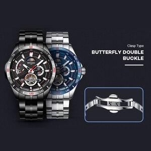 Image 4 - BOYZHE nieuwe holle mechanische horloge met maan fase functie waterdichte lichtgevende mannen automatische horloges luxe merk