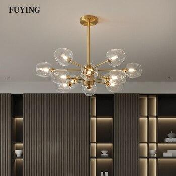 Moderna lámpara Led de cristal, lámpara colgante, lámpara para decoración de techo, sala de estar lámpara para, dormitorio, Araña de iluminación interior, accesorios