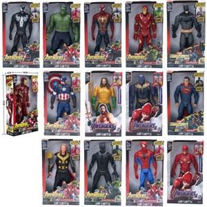 Black Panther Marvel Super Heroes Avengers Thanos Captain America Thor Iron Man Spiderman Hulkbuster Hulk Action Figure