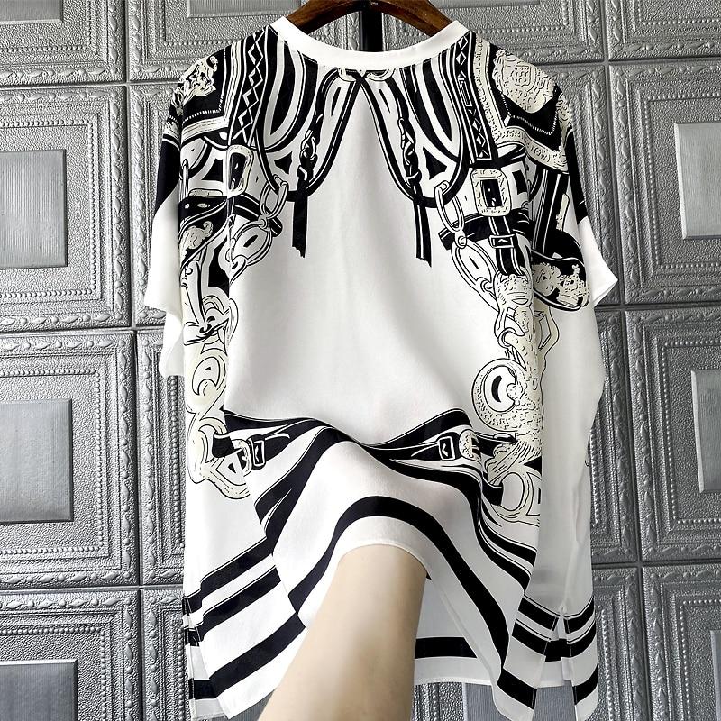 silk New Blouses 100% & Shirts single Wear a blockbuster 3000 sense of luxury printing silk shirts