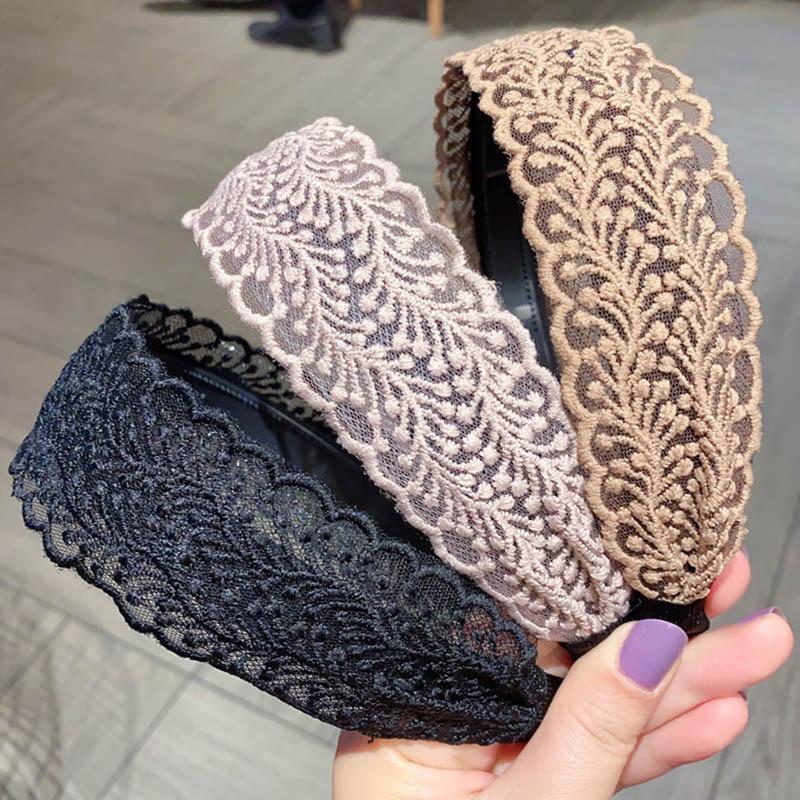 Haimeikang Lace Hair Hoop Women Korean  Hair Pressure Bezel Headband Fashion Spring Summer New Headwear Hair Accessories