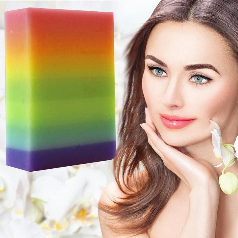 Thailand Rainbow Soap Handmade Fruit Essential Oil Soap Whiten Moisturizing Deep Cleansing Essential Oil Soap