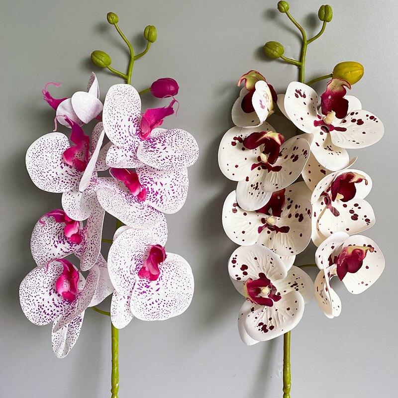 Латексные настоящие на ощупь Искусственные цветы в виде бабочек, орхидеи для домашвечерние НКИ, свадебные украшения «сделай сам»