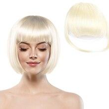 AIYEE синтетические волосы для наращивания тонкие тупые волосы на заколках поддельные бахрома воздушная челка клип на передней части головы