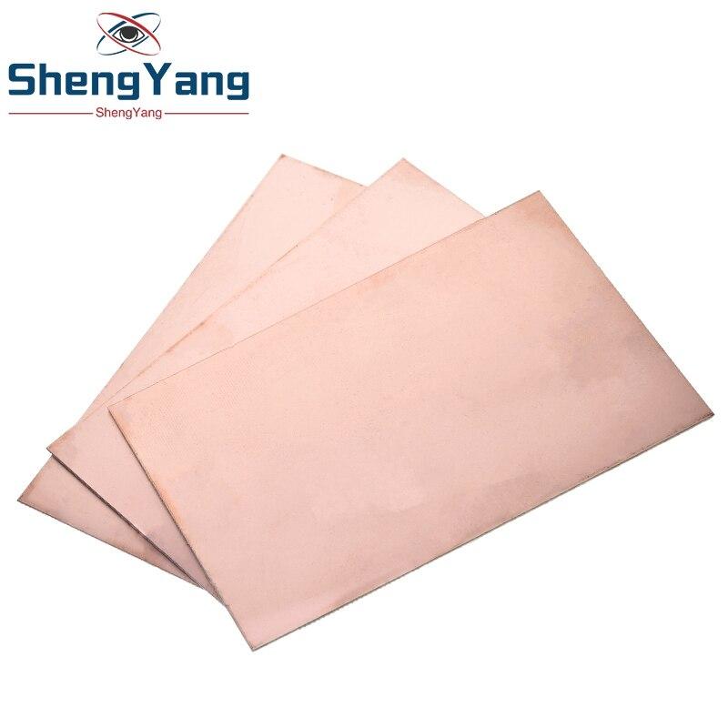 ShengYang 1 шт./лот Fr4 Pcb односторонняя медная плакированная пластина, набор для самостоятельной сборки ПП, ламинированная печатная плата 10x15 см