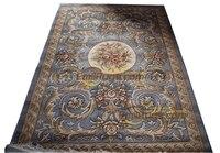 Dywan kwiatowy jedyny w swoim rodzaju dywan Savonnerie unikalny dywan ludowy dywan do składania wykwintny okrągły pokój dywan zdenerwowany dywany z wełny w Dywany od Dom i ogród na