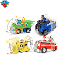 Paw patrol Cartoon Catapult Deformation Aircraft Want Want Dog Patrol Children's Toy Set Gift paw patrol four generations of upgraded pvc material snow dog beads bevel off road small grams of deformable catapult toy childr