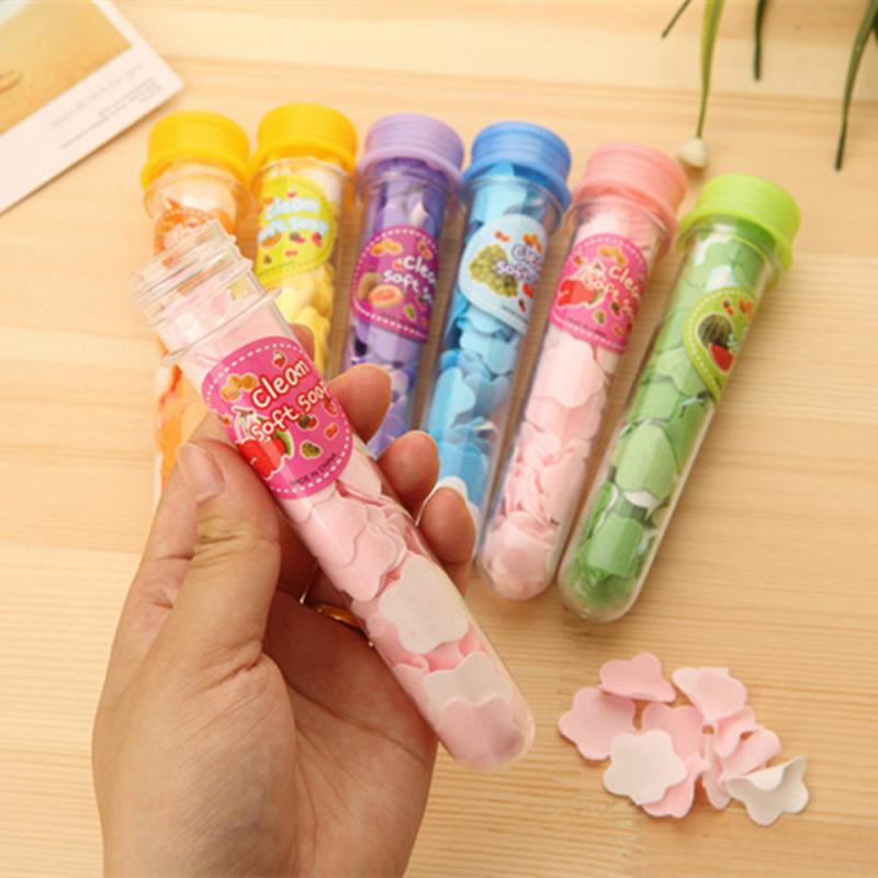 Portable Test Tube Bottle Foaming Boxed Soap Paper Scented Slice Disposable Paper Soap Outdoor Travel Washing Hands Mini Soap