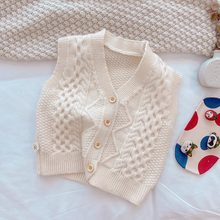 Children Vest Sweaters Baby Boy Girl Clothing Korean Kids Sleeveless Knitted Vest Jacket Diamond Cardigan Spring Coat Clothes