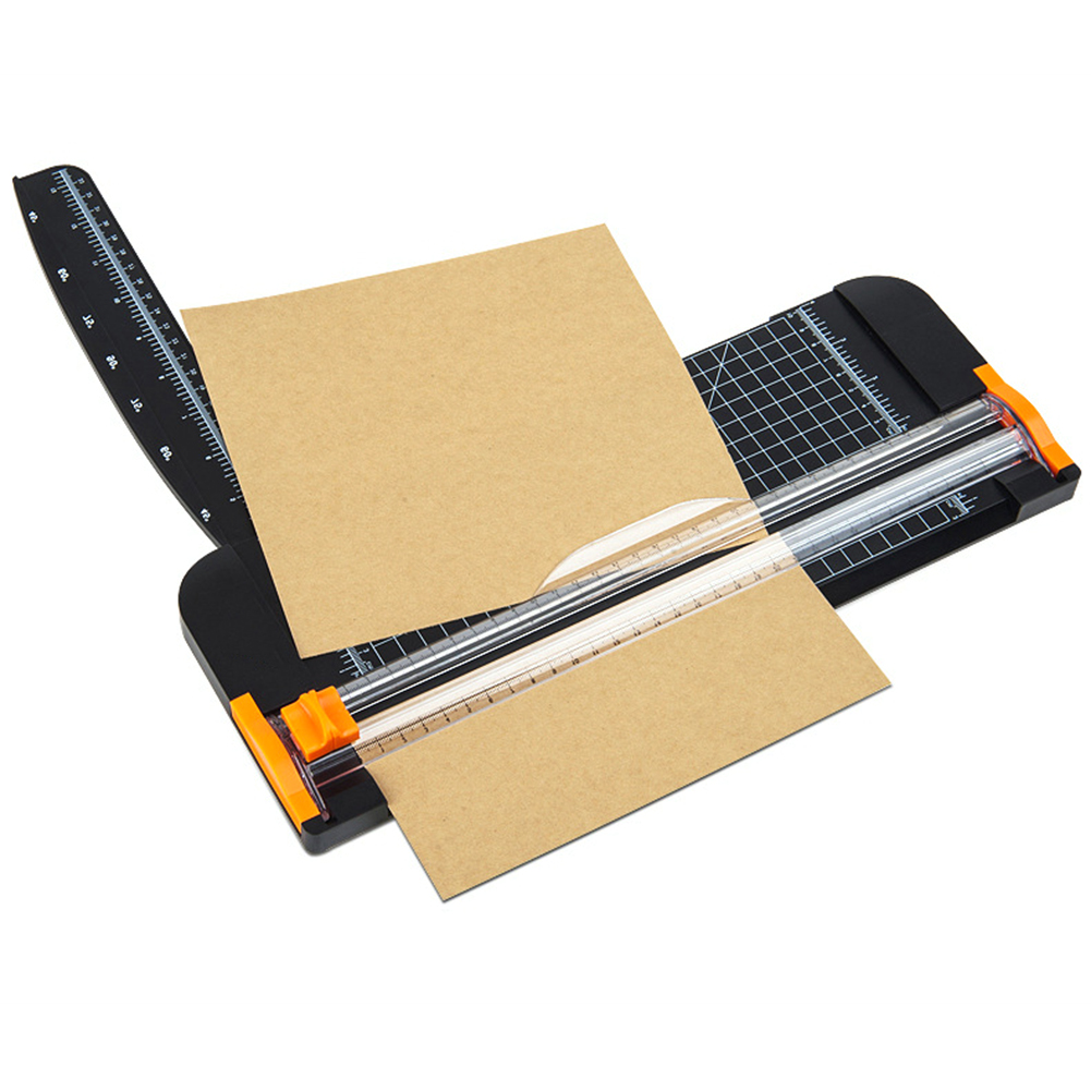 Portable Paper Cutter Plastic Base Office Home Stationery Knife A4 Paper Card Cutting Blade Art Trimmer Crafts Tools
