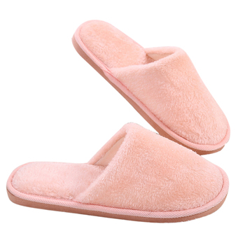 Warm Flats Autumn Winter Women Men Slippers Bottom Soft Home Shoe Cotton Thick Slippers Indoor Slip-