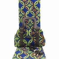 2019 Latest african wax bag sets 3 pieces/set ankara wax handbag matching 6 yards african real soft wax fabric