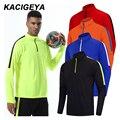 Футбольная форма на заказ  спортивный Спортивный Топ для велоспорта  быстросохнущая мужская куртка для бега с длинным рукавом