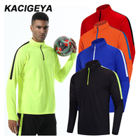 Custom Voetbal Jersey Gym Training Sport Fietsen Top Sneldrogend Lange Mouw Running Jogging Mannen Outdoor Jas