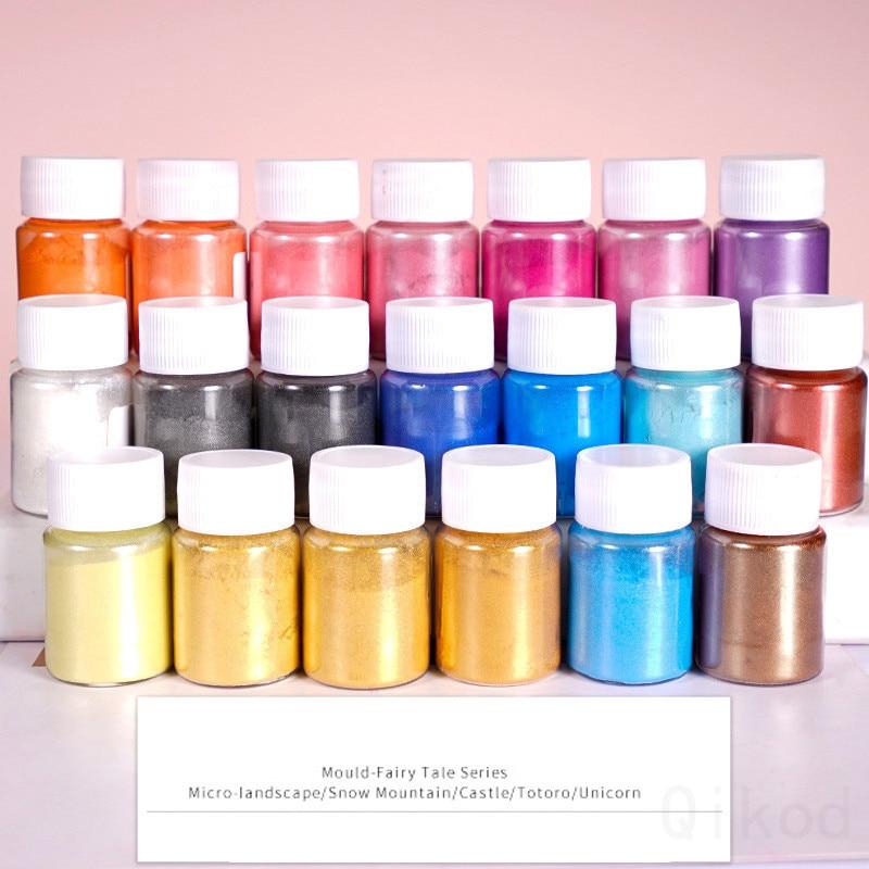 20 Color DIY Slime Kit Glitter Powder Filler Pigment Decoration Toys Pearl Powder Dye Fluffy Glue Slime Educational  Girls Gift