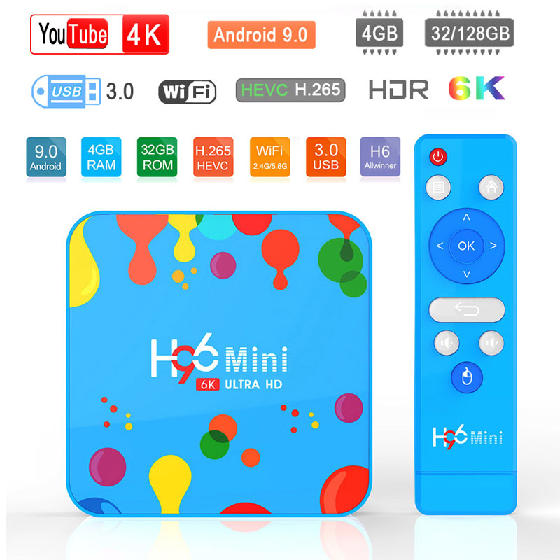 H96 Ultra-Hdr Smart-Tv-Box Bluetooth 6K Android 9.0 Wifi Youtube Full-Hd 100%Original