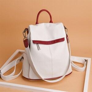 Image 4 - Bayanlar okul sırt çantası kese Dos Femme kadın omuz çantaları kadınlar için geniş tuval kayışı genç kızlar için sırt çantası Mochilas