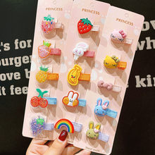 5 Stks/set Nieuwe Meisjes Leuke Kleurrijke Cartoon Haarspelden Kinderen Zoete Hair Ornament Clips Haarspeldjes Kids Fashion Haar Kid Accessoires(China)