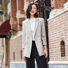 Зимняя одежда женские блейзеры и куртки женский костюм двубортный