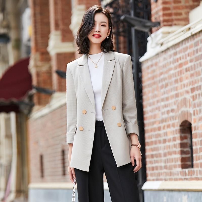 winter clothes women blazers and jackets women Suit women blazers and jackets Women Double breasted blazer feminino plus size