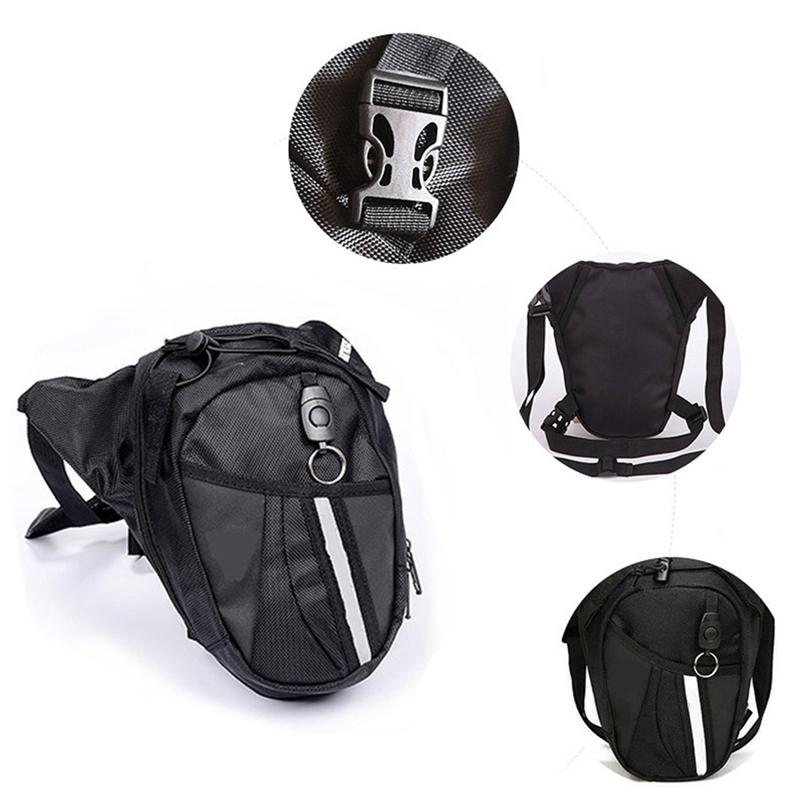 Men Waterproof Oxford Waist Bag Motorcycle Riding Cycling Leg Bags Travel Hip Fanny Pack Phone Pouch Purse Thigh Belt Bum Bag
