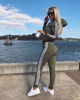 Women Set Top and Pants Women's Wear New Sports Suit 2piece 1