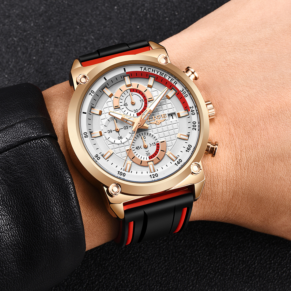 Hd0168b8d5dae4229b077778caf0d5c7aU New Top Fashion Chronograph Quartz Men Watches LIGE Silicone Strap Date Wristwatch Clock Male Luminous Watch Relogio Masculino