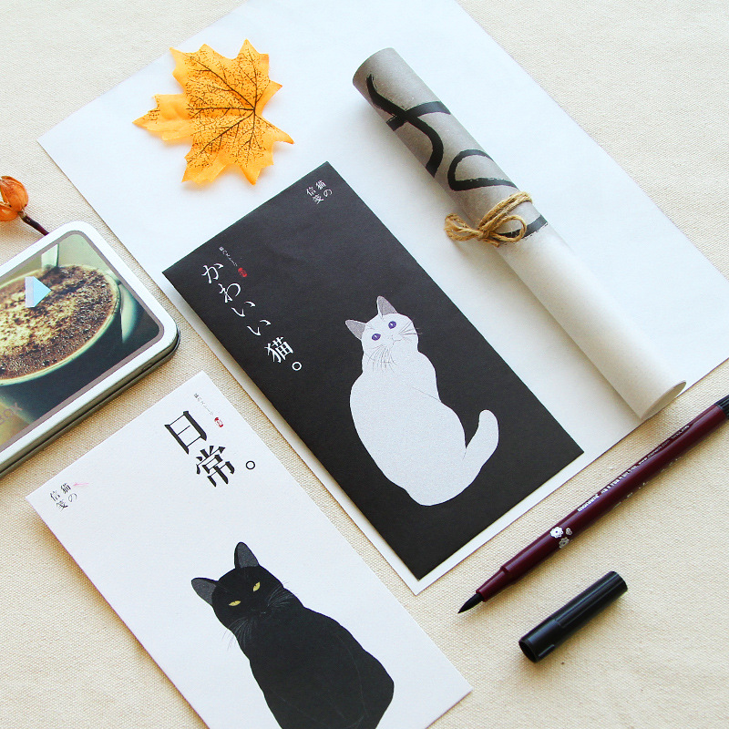 Creative Cute Cat Love Letter Writing Paper Envelop Package Retro Japanese Style And Wind 3 Envelope 6 Writing Paper Letter Head