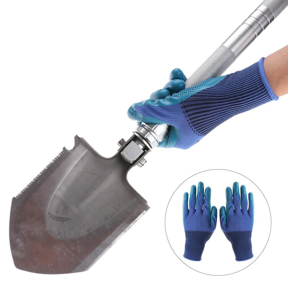1pair Gardening Gardening Wearable Raking Digging Planting Latex Work Glove Butyronitrile Non-slip Hand Protection Garden Gloves