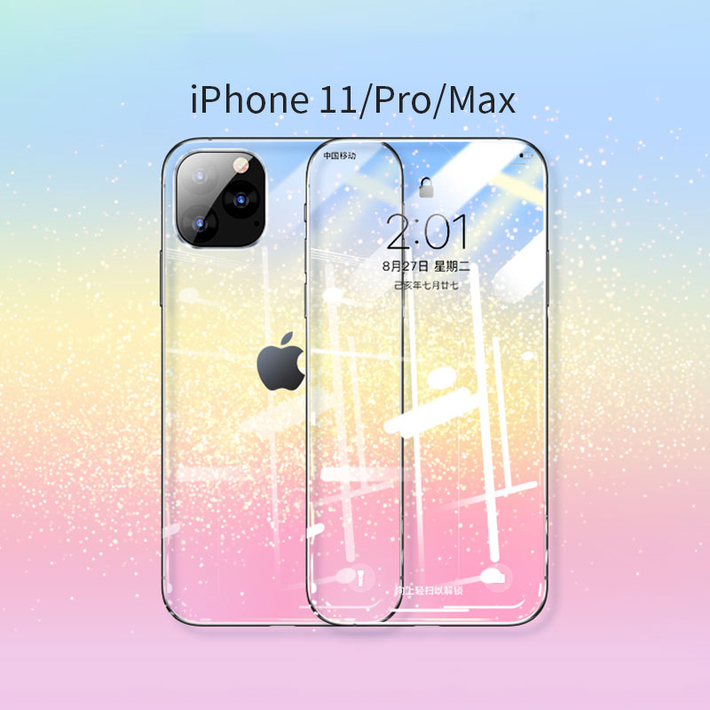 Protective Glass On For IPhone 11 Pro X XR MAX Full Cover For IPhone 11 8 7 6 6s 5s Screen Protector Glass On IPhone 11 Pro Max