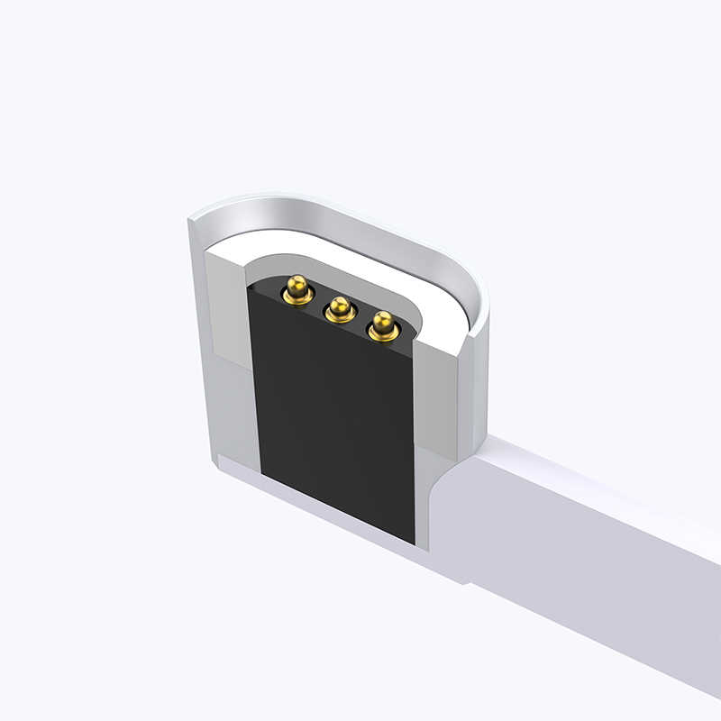 86W USB C Cable a tipo-c magnético 2M Cable para Macbook Huawei Mate 20 Pro OnePlus 6 conector magnético de carga rápida tipo C