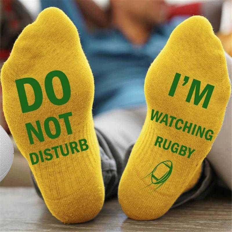 Новинка, мужские и женские спортивные носки-не беспокоить, я слежу за футболом-дышащие мягкие хлопковые носки для бега, баскетбола, велоспорта - Цвет: 3