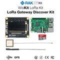 WisKit LoRa Gateway Discover Kit RAK2245 Pi HAT & Raspberry Pi 3B+ with GPS Module 16G TF Card LoRaWAN Application Q197