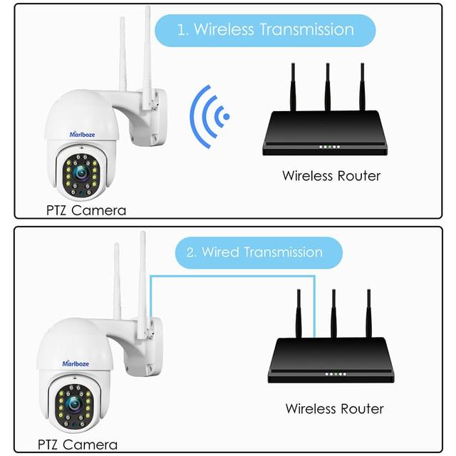Marlboze1080P outdoor wifi PTZ IP camera 2MP speed dome ip camera outdoor security waterproof cctv camera camhi pro App 6