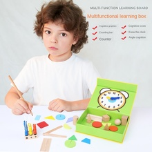 Shape arithmetic learning box counting stick kindergarten elementary school teaching aid counter counting stick arithmetic toy counting