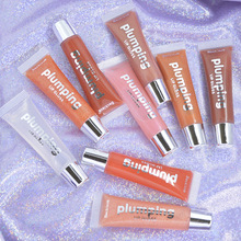 Crystal Jelly Plumping Lip gloss Moisturizing Shiny Glitter Lipstick Mineral Oil Clear Lip Gloss Lip Plumper Tint Make Up