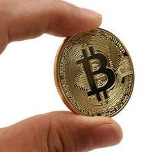 Złoty/posrebrzany Bitcoin moneta prezent kolekcjonerski bitcoiny kolekcjonerskie dekoracje do domu, New Arrival