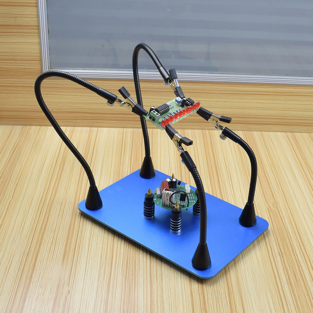 Image 5 - Toolour Magnetic PCB Board Fixed Clip Flexible Arms Soldering Third Hand Stainless Steel Base PCB Holder Welding Repair ToolSoldering Stations   - AliExpress
