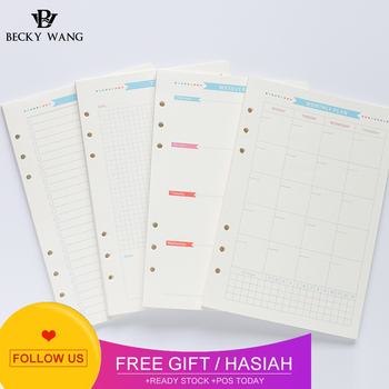 A5 A6 Paper 160 Sheets Set 6 Holes Daily Weekly Monthly To Do List Loose Leaf Notebook Spiral Planner 2020 Refill Inner Page sesibibi 150 page 6